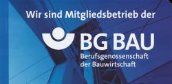 Wir sind Mitgliedbetrieb der BG Bau Berufsgenossenschaft der Bauwirtschaft